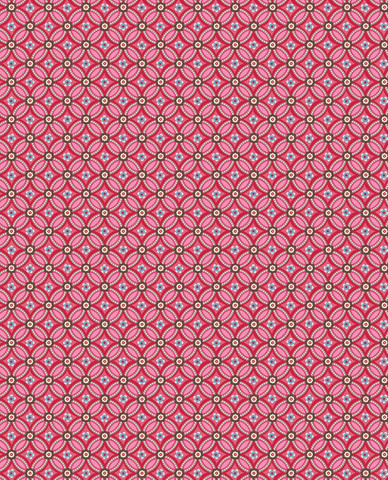 Tapetti 341022 Geometric Red, punainen
