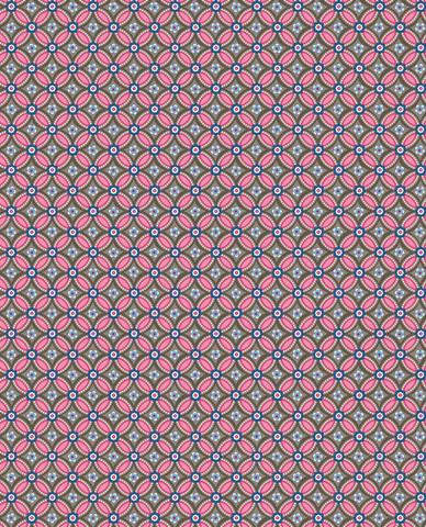 Tapetti 341025 Geometric Brown Pink, pinkki-ruskea