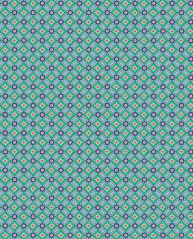 Tapetti 341026 Geometric Green, vihreä
