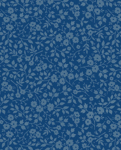 Tapetti 341065 Lovely Branches Dark Blue, tummansininen