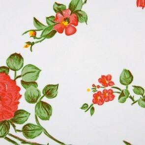 Vahakangas, ruusut valkoisella pohjalla 120cm
