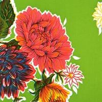 Vahakangas, kukat vihreällä pohjalla 120cm