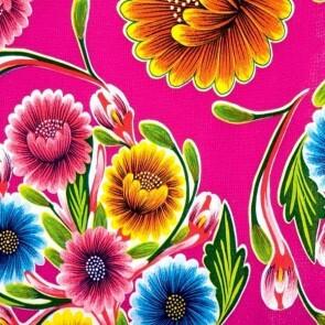 Vahakangas, kukat pinkillä pohjalla 120cm