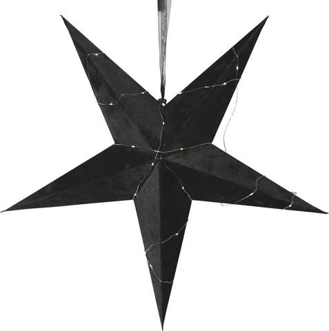 Velvet samettipintainen paperitähti 60 cm, musta