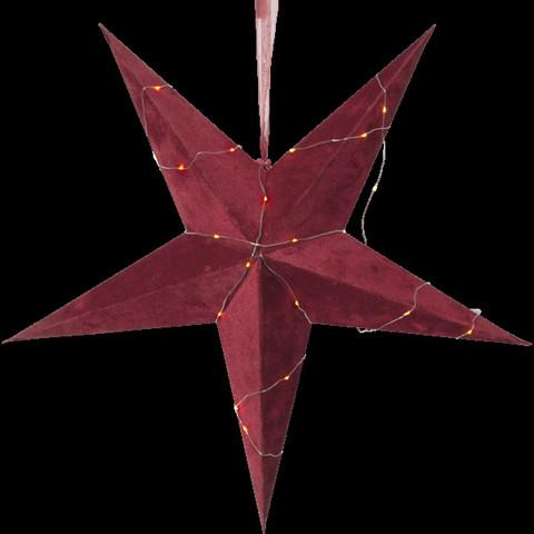 Velvet samettipintainen paperitähti 60 cm, punainen