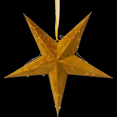 Velvet samettipintainen paperitähti 60 cm, kulta