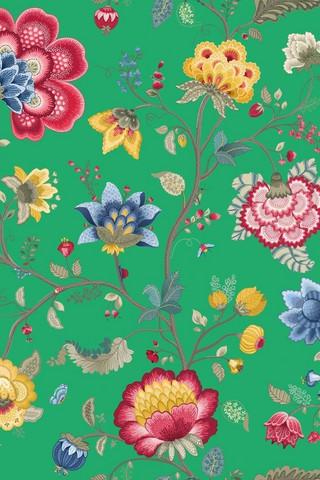 Tapetti 341036 Floral Fantasy Green, vihreä 1m