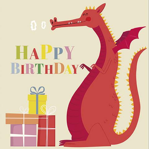 Lohikäärme syntymäpäiväkortti
