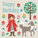 Punahilkka syntymäpäiväkortti
