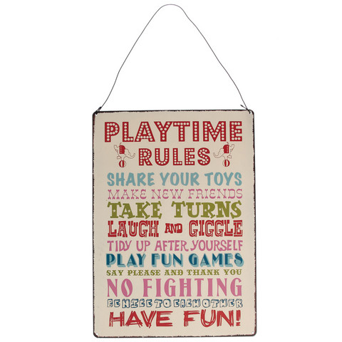 Playtime rules -kyltti