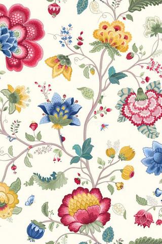 Tapetti 341030 Floral Fantasy White, valkoinen