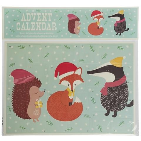 Joulukalenteri, herra mäyrä ja ystävät