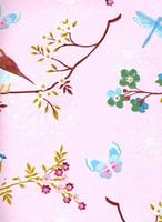 Tapetti 375082 Early bird Light Pink, vaaleanpunainen