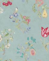 Tapetti 375022 Cherry Blue, merensininen, vaalea