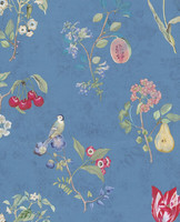 Tapetti 375025 Cherry Blue, sininen