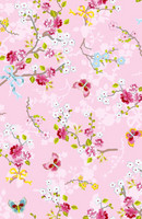 Tapetti 375072 Chinese Rose Pink, vaaleanpunainen