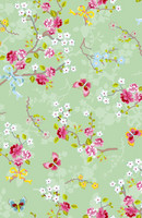 Tapetti 375073 Chinese Rose Green, mintunvihreä