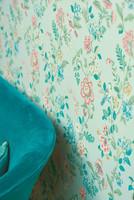 Tapetti 375061 Botanical Print Light green, siniharmaa, vaalea