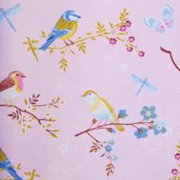 Tapetti 375082 Early bird Light Pink, vaaleanpunainen 1m