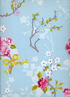 Tapetti 375071 Chinese Rose Blue, vaaleansininen 1m