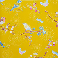 Tapetti 375083 Early bird Yellow, keltainen 1m