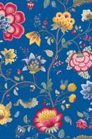 Tapetti 341034 Floral Fantasy Dark Blue, tummansininen