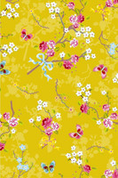 Tapetti 386034 Chinese Rose Yellow, keltainen 1m