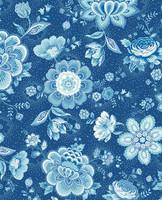 Tapetti 341013 Folklore Chintz Dark Blue, tummansininen