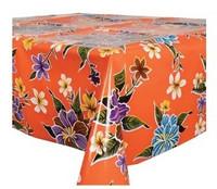 Vahakangas, kukat oranssilla pohjalla 120cm