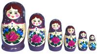 Maatuska 6 nukkea, violetti