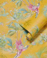 Tapetti 300143 Palm Scene Yellow, keltainen