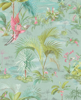 Tapetti 300145 Palm Scene Blue, sininen