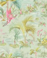 Tapetti 300144 Palm Scene Green, vihreä