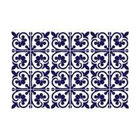 Kaakelitarra 15x15 cm, Yksivärinen ornamenttikuvio  WT1576
