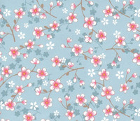 Tapetti 313021 Cherry Blossom Light Blue, vaaleansininen