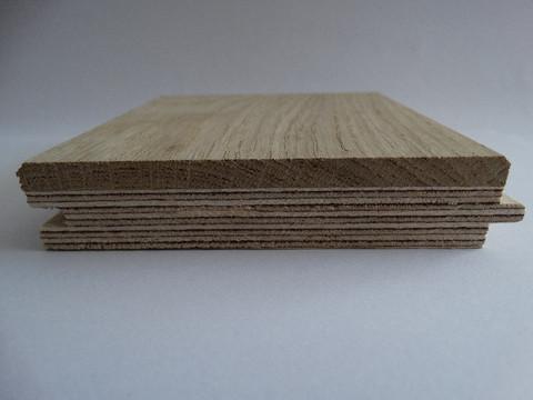 Kaksikerroksinen 15mm tammilankku natur lattialämmitykselle