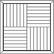 Kuviomosaiikki tammi ruutukuvio kehyksellä natur. Koko 375 x 375 mm