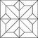 Kuviomosaiikki tammi ristikuvio (24 palaa). Kuvion koko 340 x 340 mm