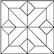 Kuviomosaiikki tammi iso ristikuvio (24 palaa) natur. Koko 471x471 mm