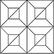 Tammi ruutukuvio (24 palaa) natur. Kuvion koko 340 x 340 mm