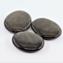 Obsidiaani Silver hiottu litteä 40-45mm