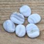 Sininen pitsiakaatti 'Blue Lace' litteä 20-25mm
