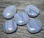 Sininen pitsiakaatti 'Blue Lace' litteä 20*25mm