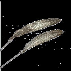 Sulkakoriste, Metallia 15cm