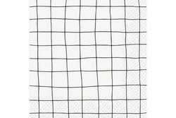 Servetti, Ruutu Valkoinen 33x33cm