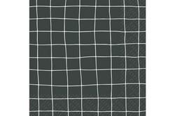 Servetti, Ruutu Musta 33x33cm
