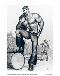Juliste 24x30 Tom of Finland - Mies poseeraa