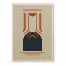 Plywood Print - Geometria 01 30x40