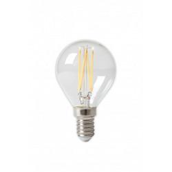 LED täyslasinen filament pallolamppu 240V 3,5W 350lm E14 P45, kirkas 2700K CRI80 himmennettävä