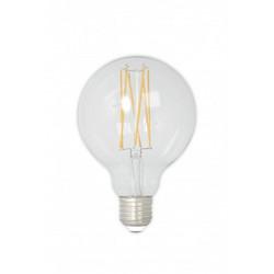 LED täyslasinen filament iso pallolamppu 240V 4W 350lm E27 GLB80, kirkas 2300K himmennettävä
